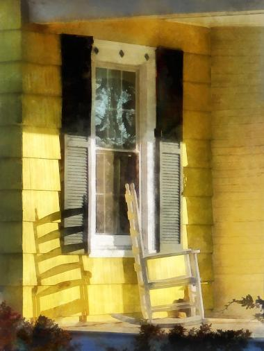 yellow porch chair