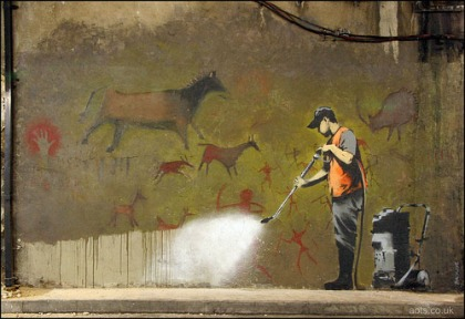 banksy cave painting