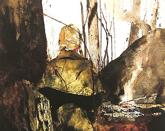 campfire andrew wyeth 02