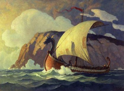viling ship artwork by n c wyeth