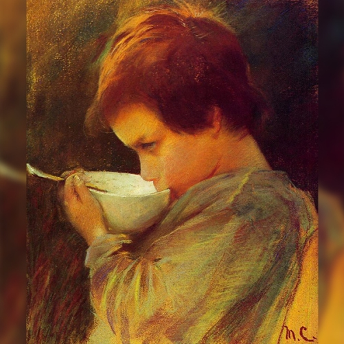 cassatt child drinking milk