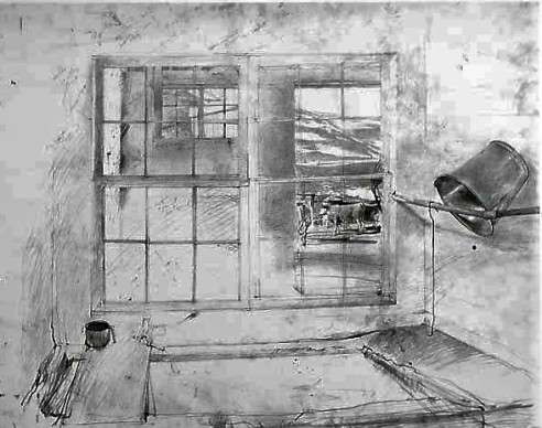 wyeth andrew drawing bw
